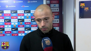 Mascherano and Neymar reaction to win over Real Sociedad