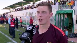 Las declaraciones de los jugadores del Juvenil A despuñes del partido de la Youth League contra el Sporting Clube