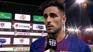 Las declaraciones de los jugadores después del partido de liga contra el Numancia