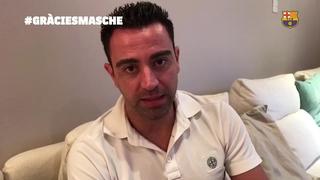Xavi Hernàndez despide a Javier Mascherano