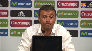 Luis Enrique says Barça were unfortunate in front of goal