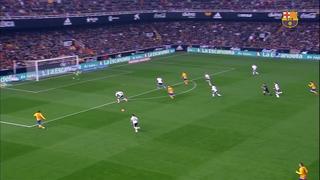 València CF 1 - FC Barcelona 1 (1 minut)
