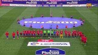Atlético de Madrid 1 – FC Barcelona 2 (5 minutes)