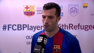 FC Barcelona - PAS Giannina match closes #WithRefugees journey in Greece