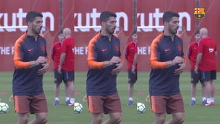 This is Luis Suárez in training