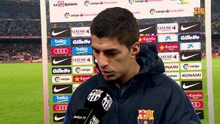 Les reaccions dels jugadors del FC Barcelona després del partit de lliga contra el Reial Madrid.