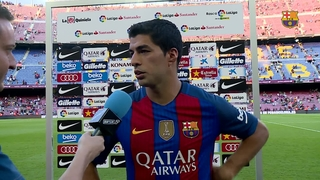 Luis Suárez, Denis Suárez and Sergio Busquets words