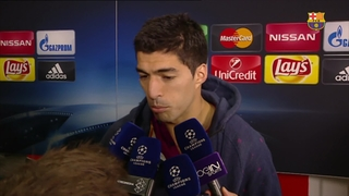 Luis Suárez and Dani Alves react to win over Arsenal