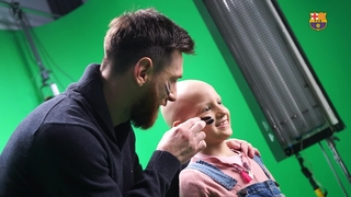 SJD Pediatric Cancer Center spot with Leo Messi