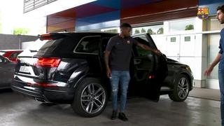 Entrevista al cotxe nou jugador del primer equip, Nélson Semedo 2017/2018 Sense Subtítols