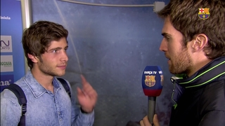 Sergi Roberto delighted with performance and victory