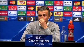 "Luis Enrique: ""We are looking forward to playing in the Calderón"""