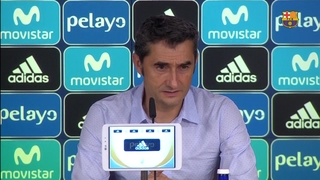 The view of Ernesto Valverde after the game against Real Madrid
