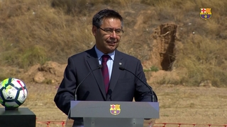 Bartomeu: The Masia players will be able to look out the window at the stadium where their dreams can come true