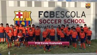 Les FCB Escola dónen la benvinguda a San José