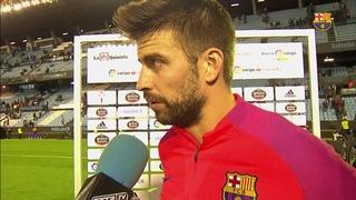 """Gerard Piqué: """"La reacció de l'equip a la segona meitat ha estat el més positiu"""""""