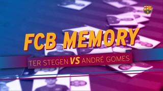 El duel de 'Memory' entre Ter Stegen i André Gomes: qui serà més ràpid?
