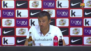 Luis Enrique happy to start with a victory