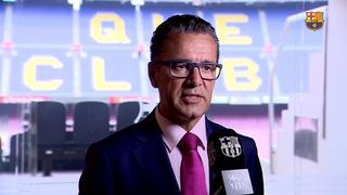 Declaracions del portaveu del FC Barcelona Josep Vives sobre el comunicat de Paulinho