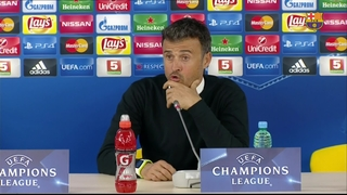 Luis Enrique pleased with clean sheet