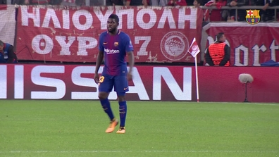 134889449 Video thumbnail for Musical seguiment Samuel Umtiti Olympiacos - Barça  (0-0) J04