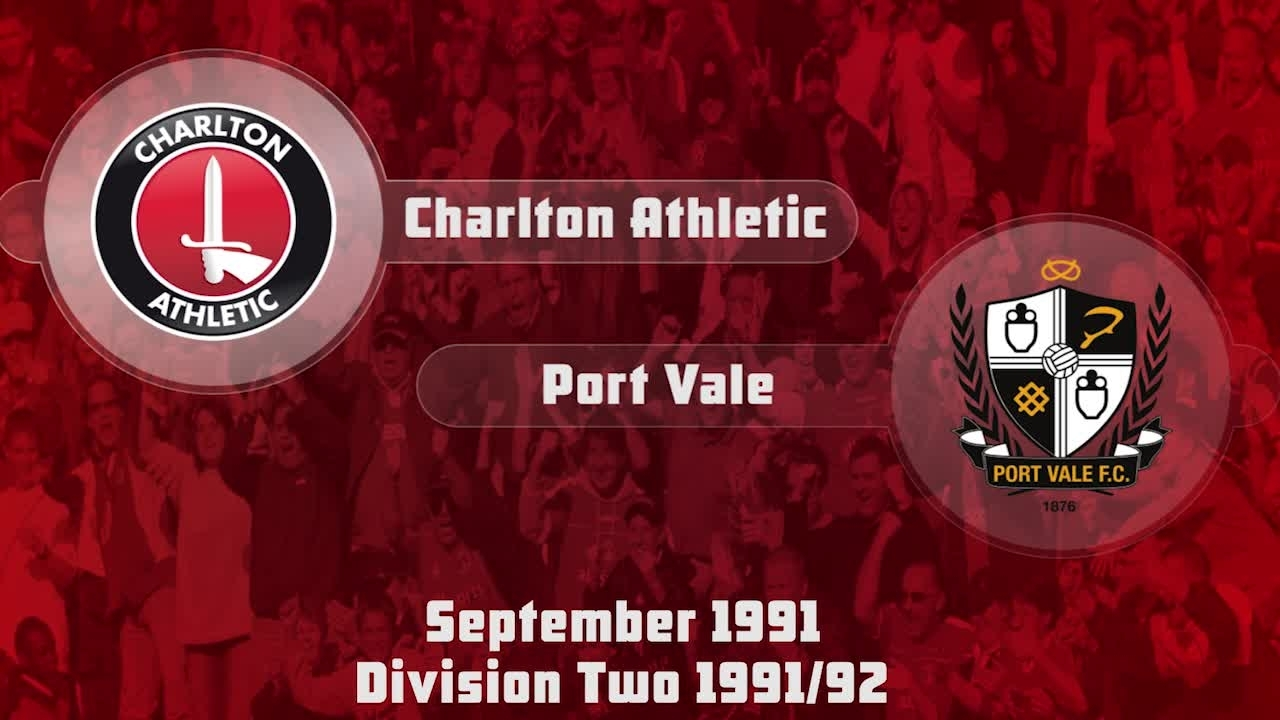 12 HIGHLIGHTS | Charlton 2 Port Vale 0 (Sept 1991)