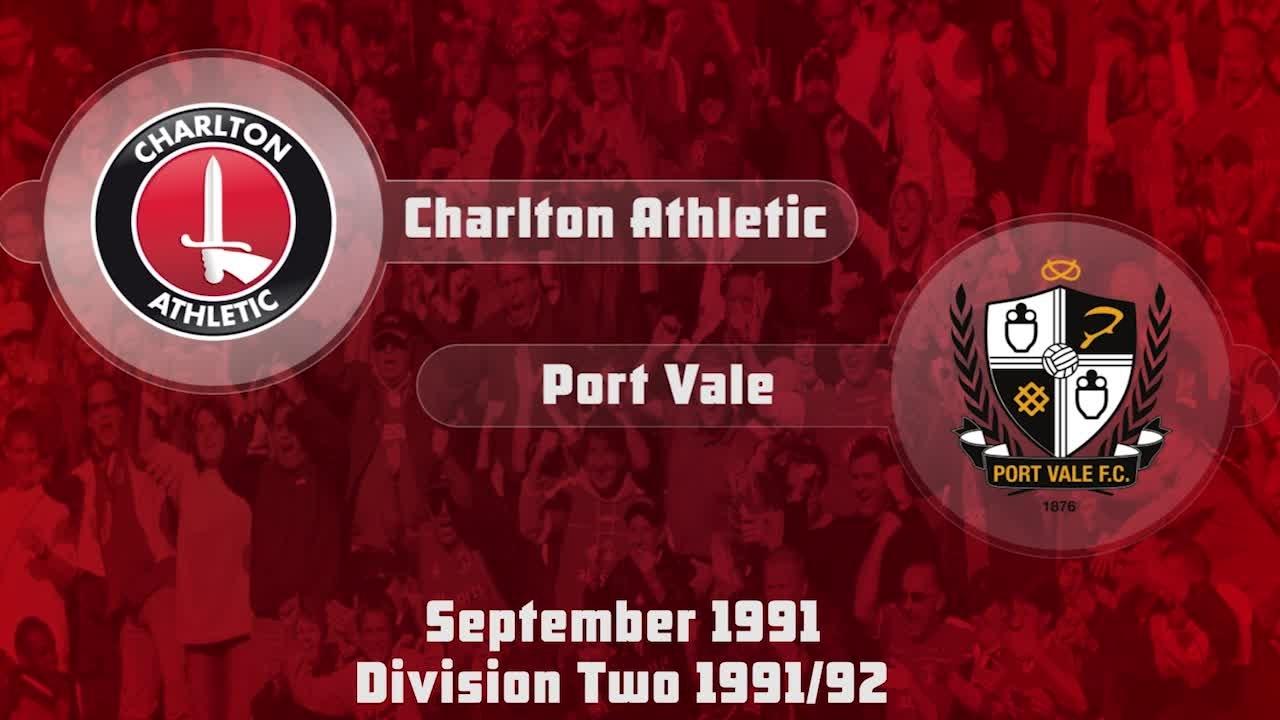 12 HIGHLIGHTS | Charlton 2 Port Vale 0 (Sept 1991)