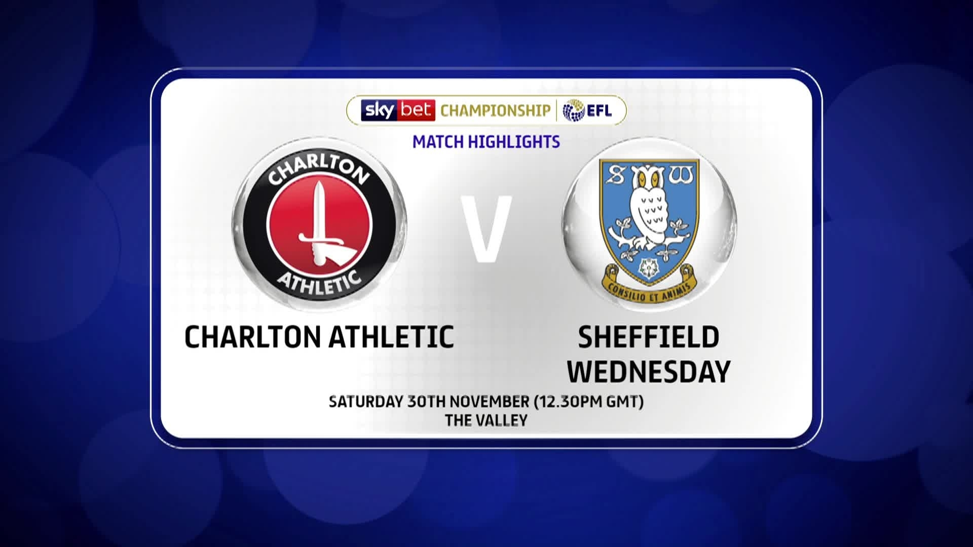 GOALS | Charlton 1 Sheffield Wednesday 3 (November 2019)