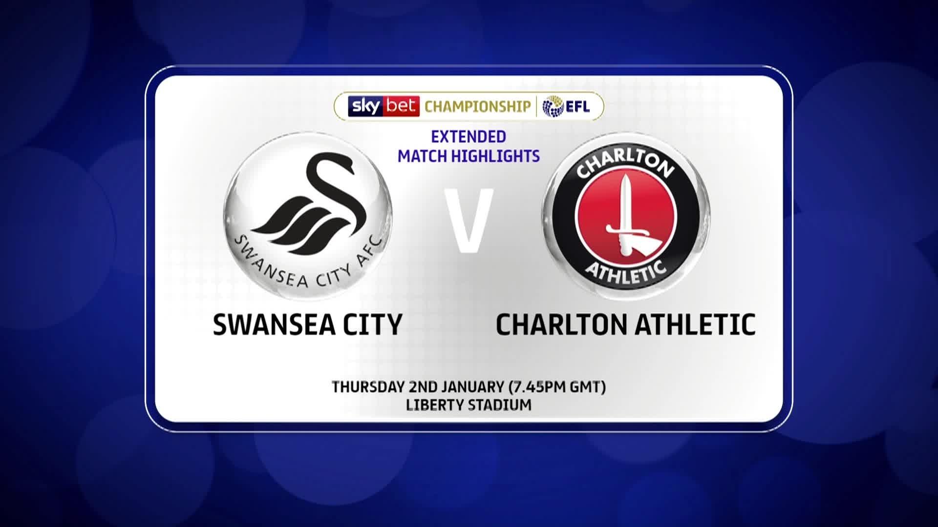 HIGHLIGHTS | Swansea 1 Charlton 0 (January 2020)