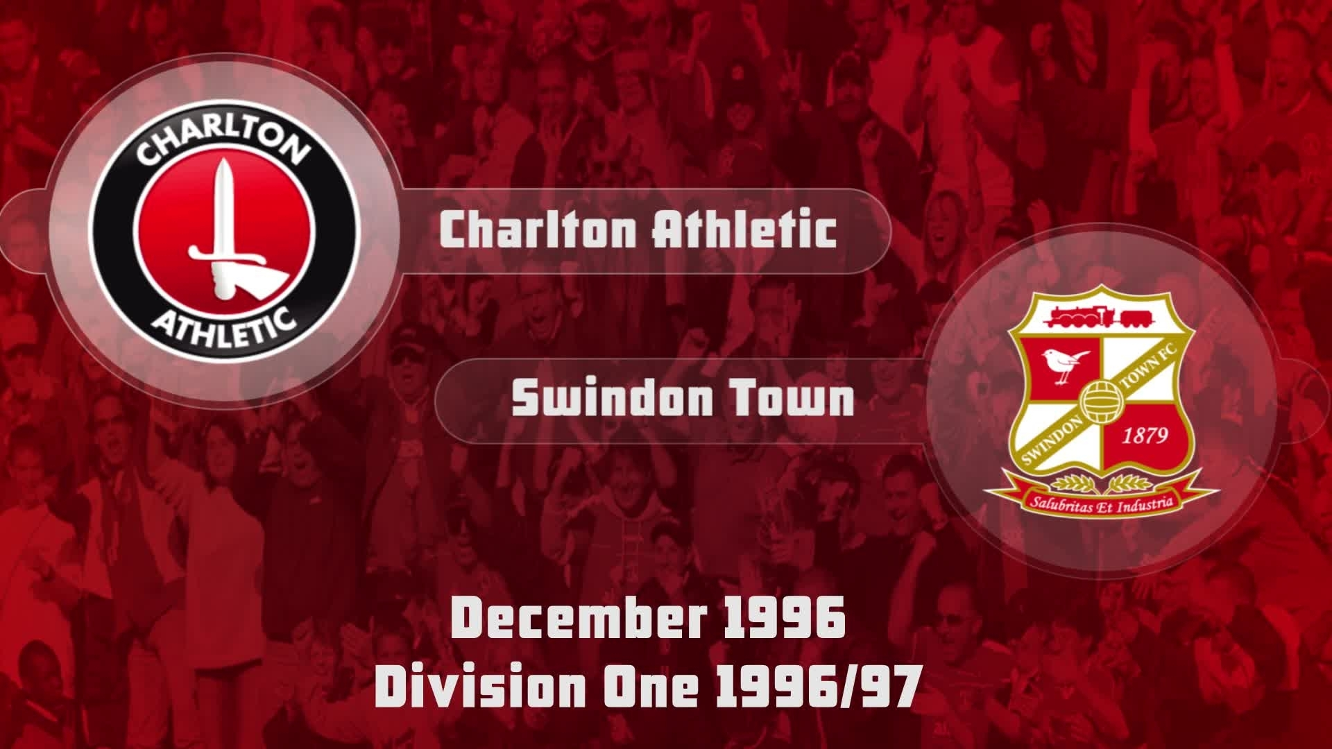 25 HIGHLIGHTS | Charlton 2 Swindon 0 (Dec 1996)