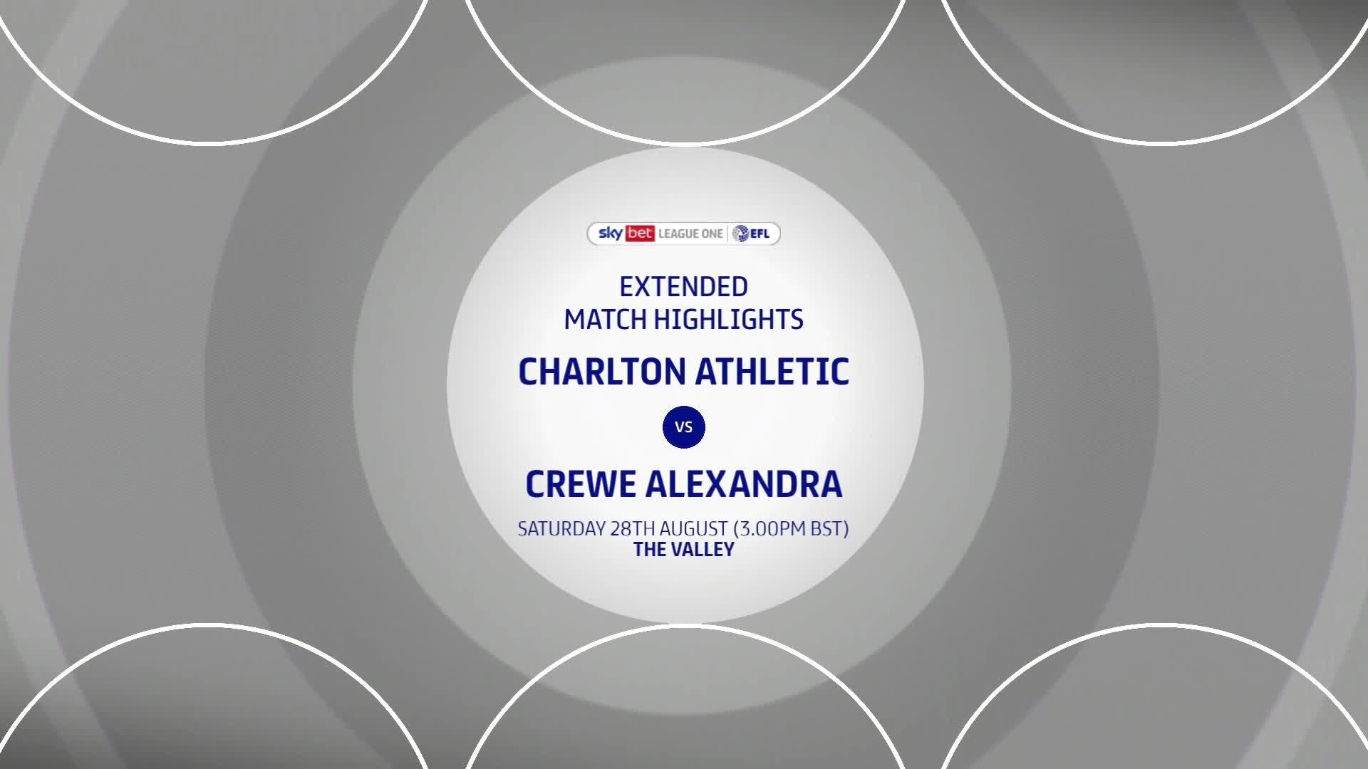 HIGHLIGHTS | Charlton 2 Crewe 0 (August 2021)