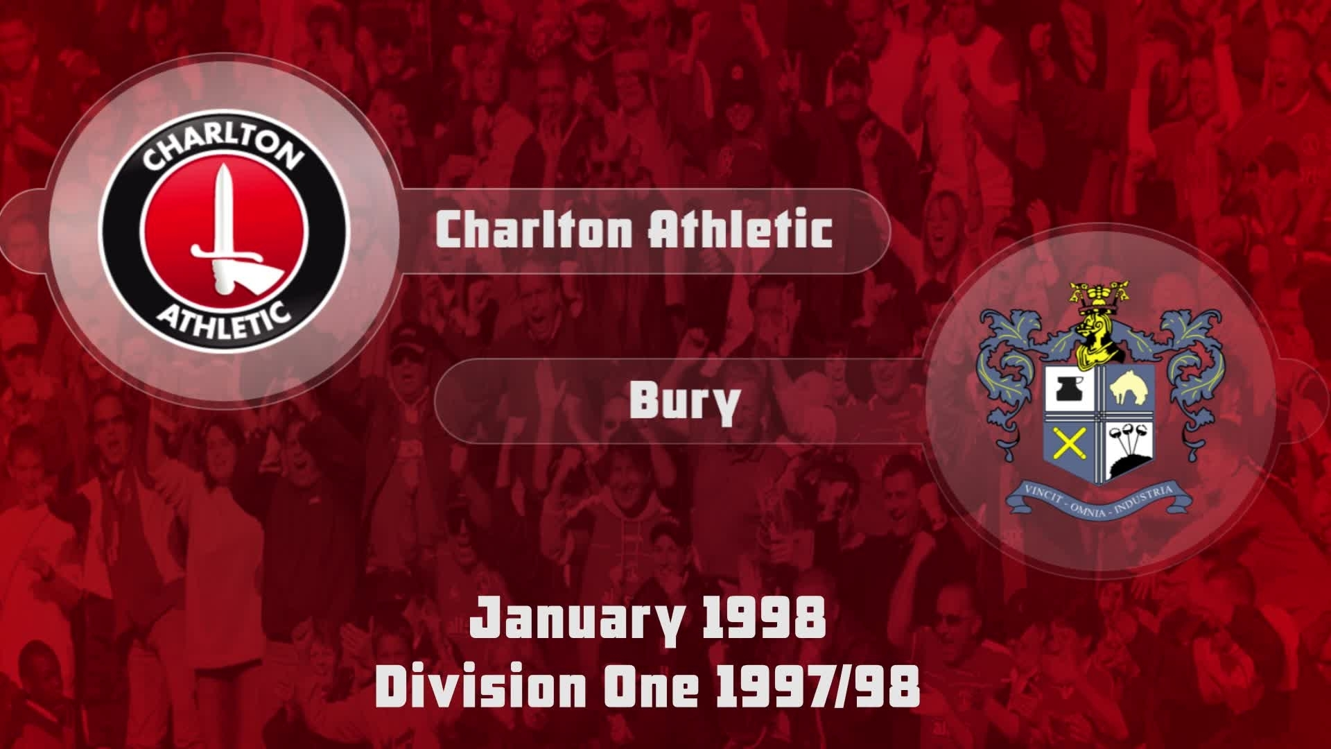33 HIGHLIGHTS | Charlton 0 Bury 0 (Jan 1998)