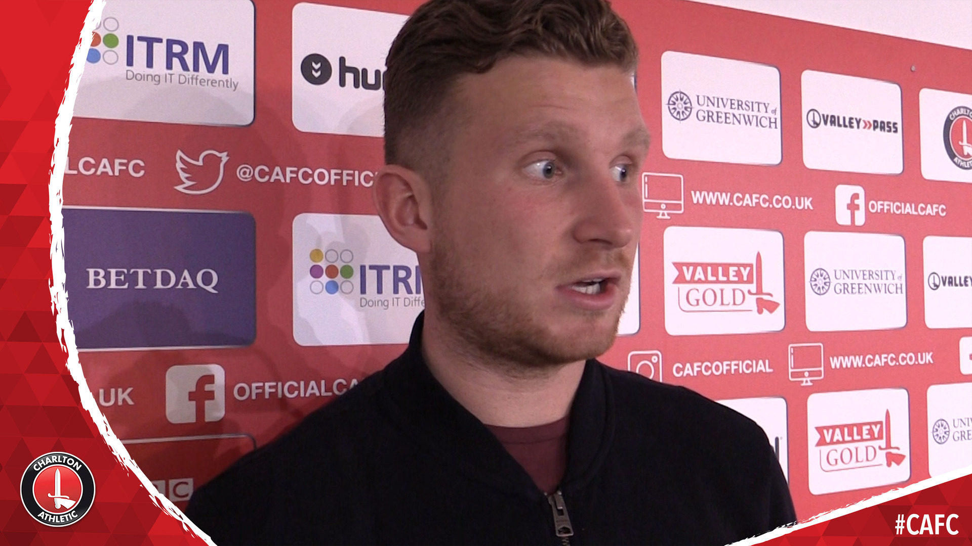 Dillon Phillips on signing his new contract at Charlton