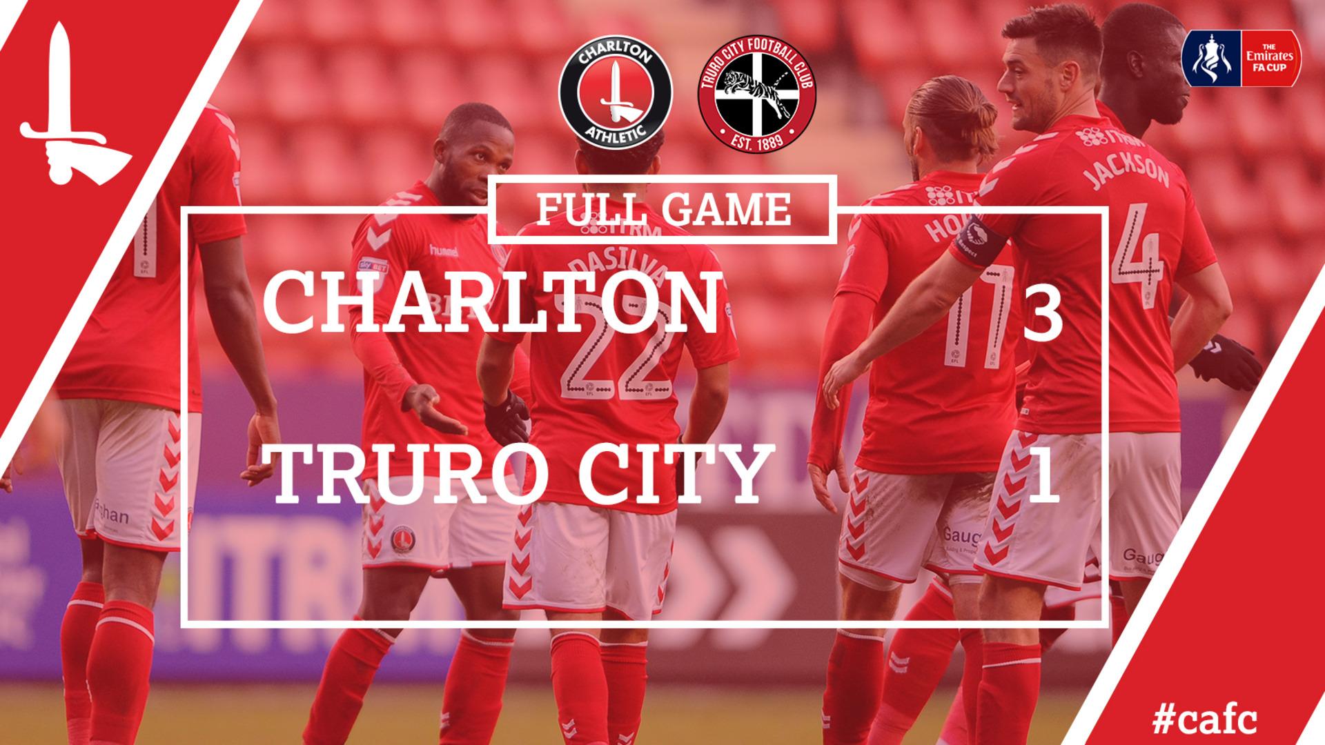 FULL GAME | Charlton 3 Truro City 1