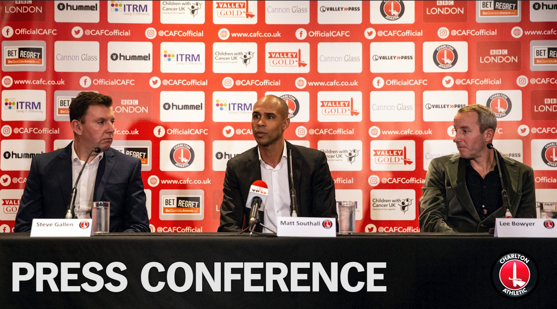 Press conference | Matt Southall, Lee Bowyer and Steve Gallen