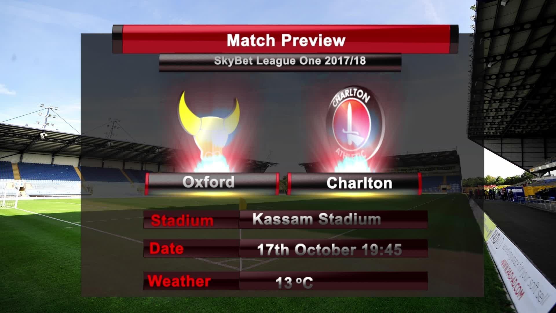 MATCH PREVIEW | Oxford vs Charlton