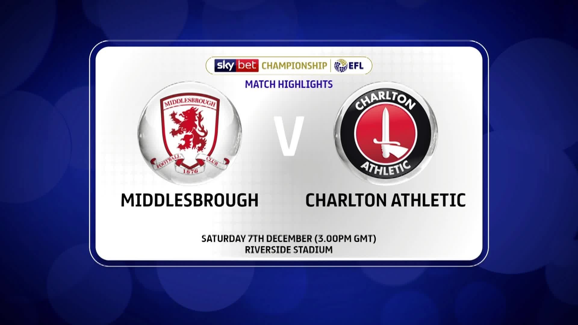 GOALS | Middlesbrough 1 Charlton 0 (December 2019)