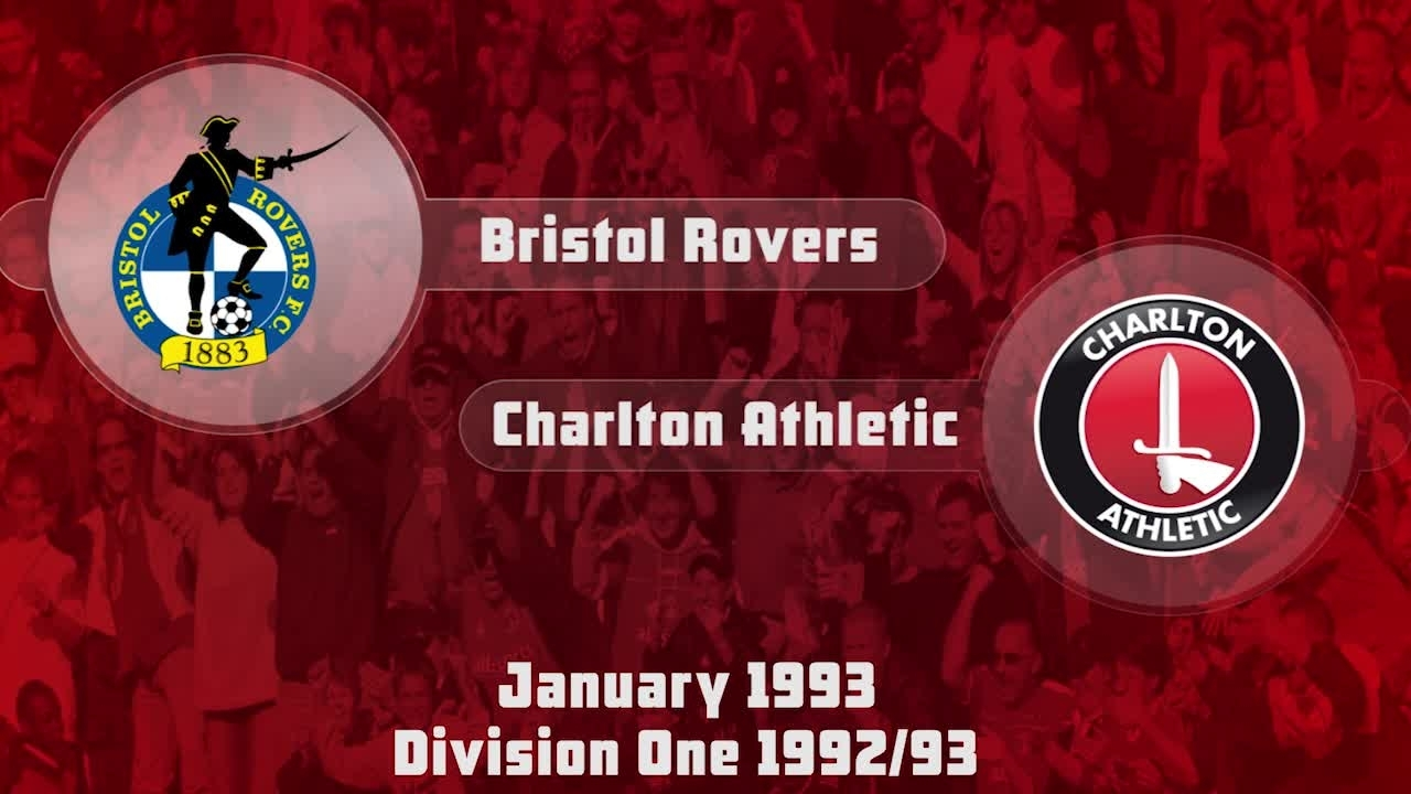 33 HIGHLIGHTS | Bristol Rovers 0 Charlton 2  (Jan 1993)