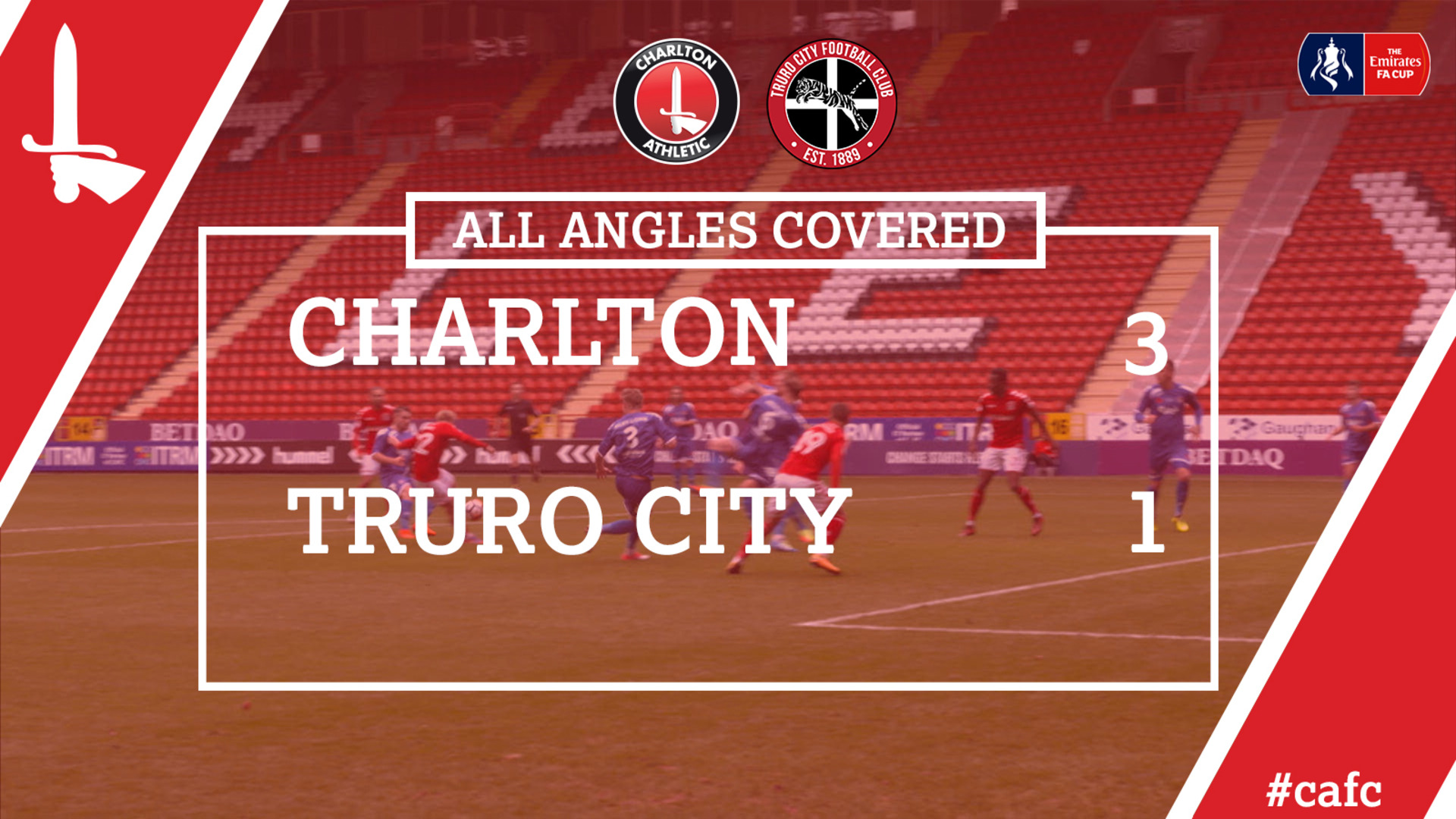ALL ANGLES COVERED | Charlton 3 Truro City 1