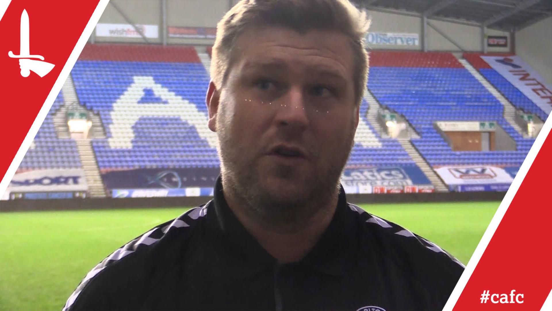 Karl Robinson assesses Wigan Athletic draw