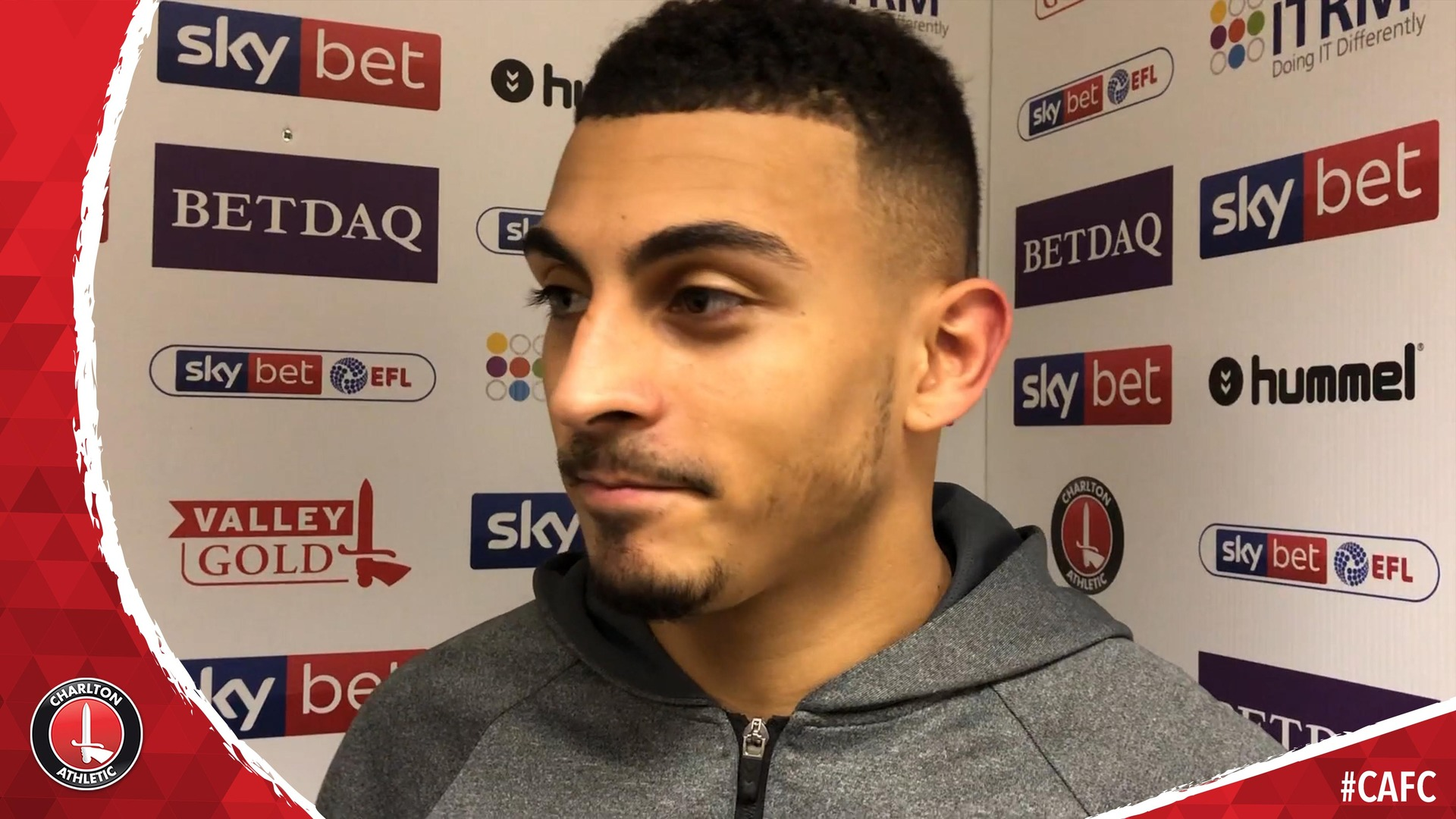 Karlan Grant on scoring Charlton's last-gasp winner against Accrington (January 2019)