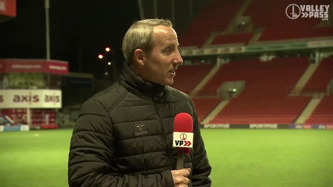 Lee Bowyer spoke to Scott Minto on Valley Pass Live after his side's draw with Plymouth Argyle (December 2020)