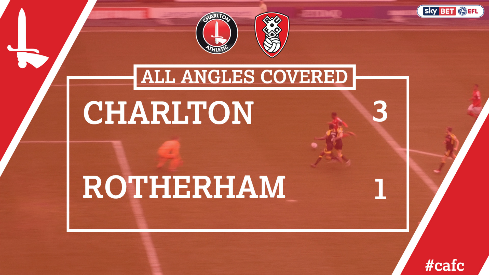 ALL ANGLES COVERED | Charlton 3 Rotherham 1 (April 2018)