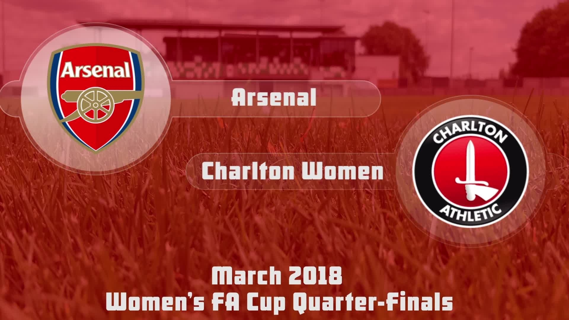 WOMEN'S HIGHLIGHTS | Arsenal 5 Charlton 0 (FA Cup Mar 2018)