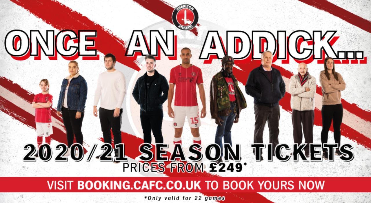 Once an Addick... 2020-21 season tickets