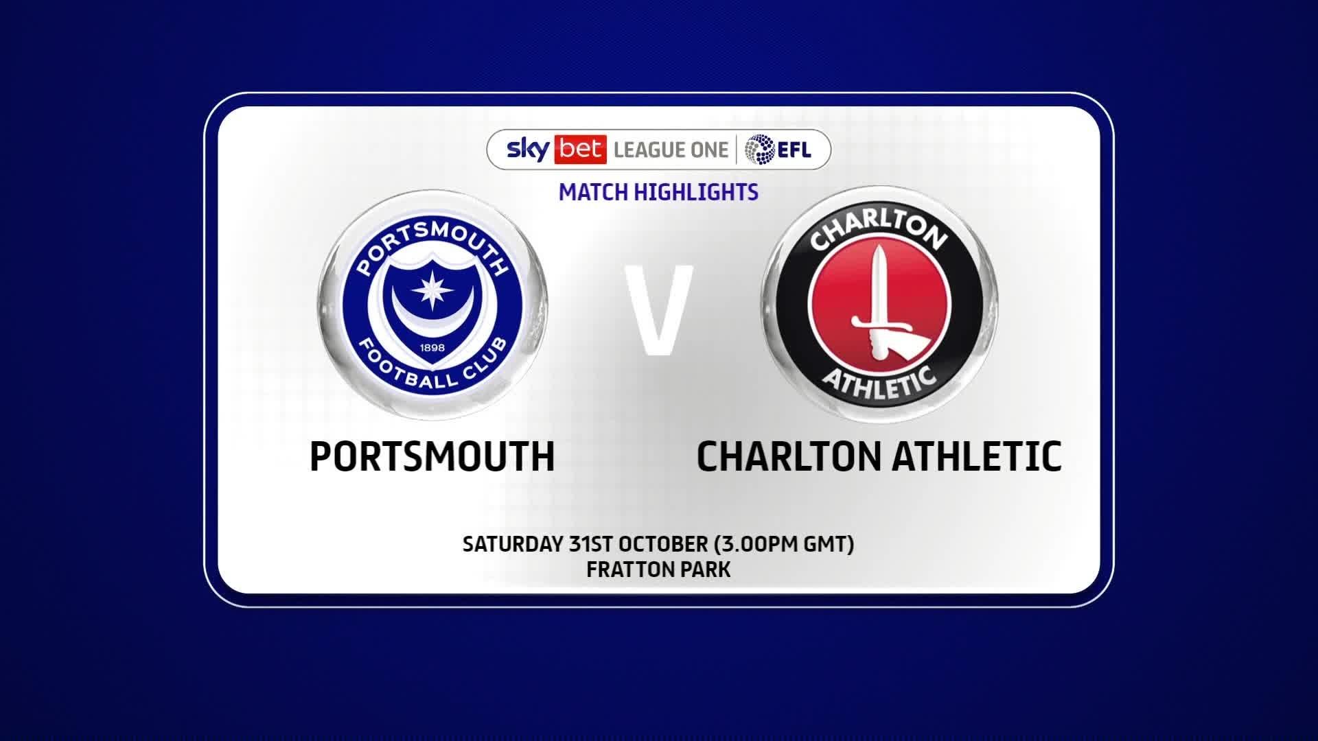 HIGHLIGHTS | Portsmouth 0 Charlton 2 (October 2020)