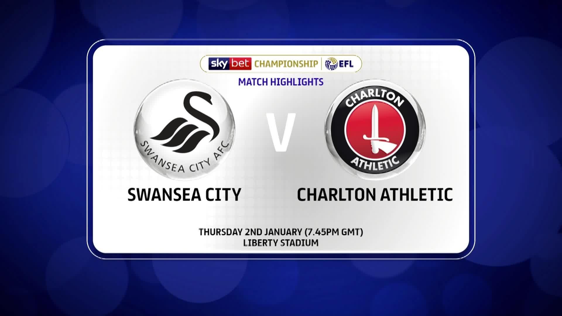 GOALS | Swansea 1 Charlton 0 (January 2020)