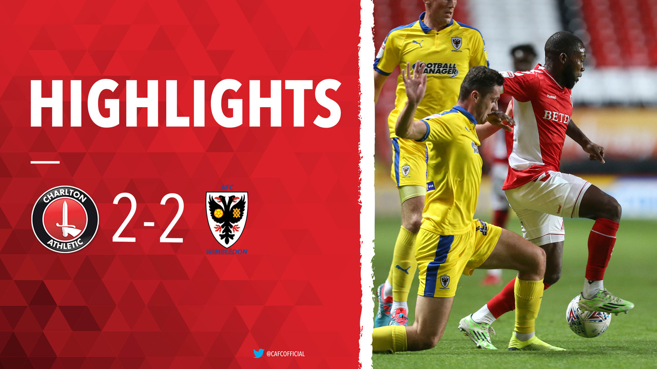 08 HIGHLIGHTS | Charlton 2 AFC Wimbledon 2 (EFL Trophy Aug 2018)