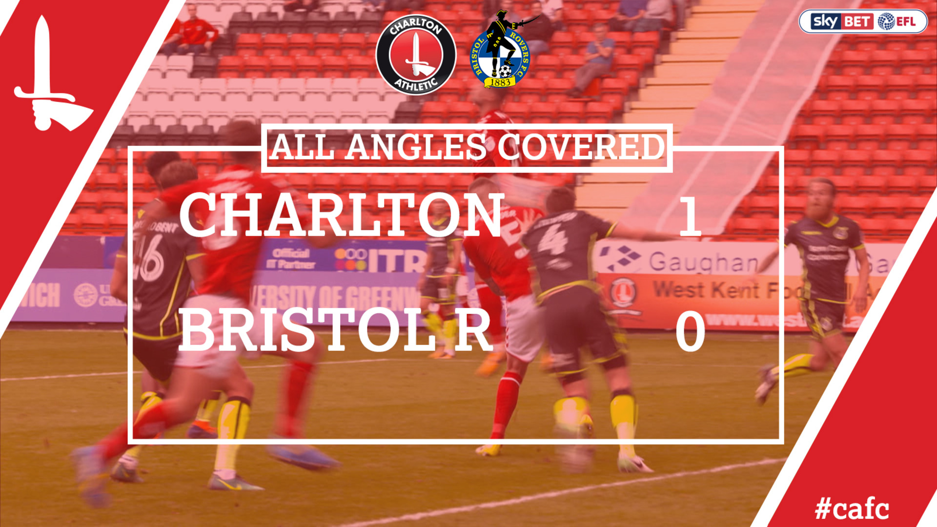 ALL ANGLES COVERED | Charlton 1 Bristol Rovers 1 (Aug 2017)