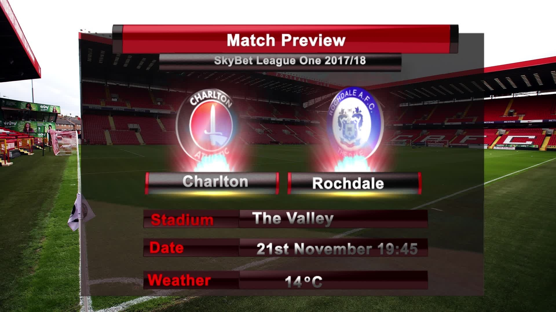 MATCH PREVIEW | Charlton vs Rochdale